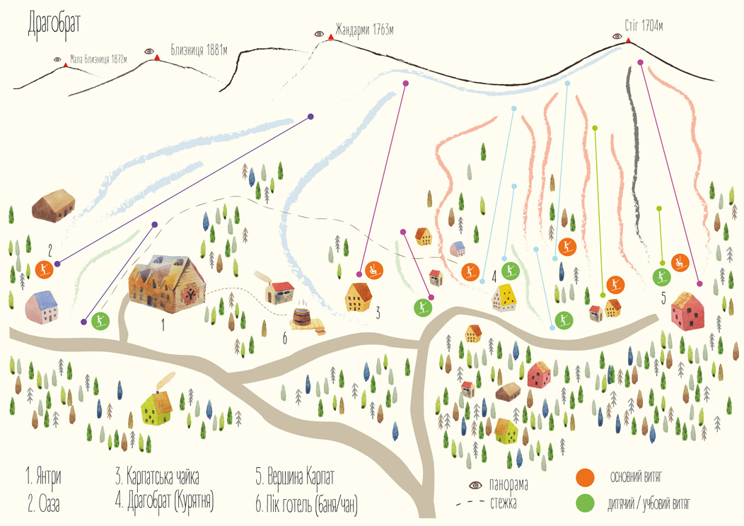 Карта курорта Драгобрат